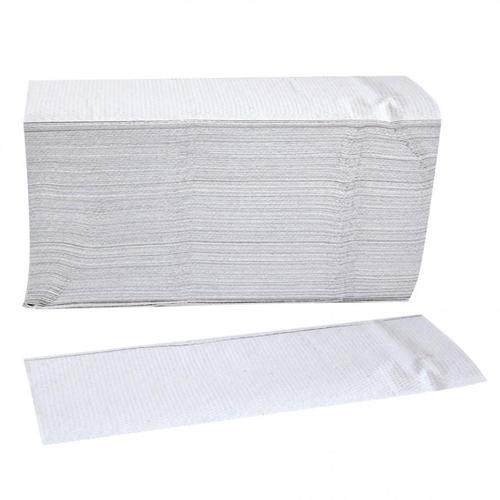 3000x Papierhandtuch 1-lagig gelegt, Z-Interfold Weiss 24x23 cm N-Falz Papierhandtücher Falthandtücher