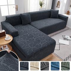 Housse de protection extensible pour canapé et fauteuil, en Jacquard, compatible avec canapé