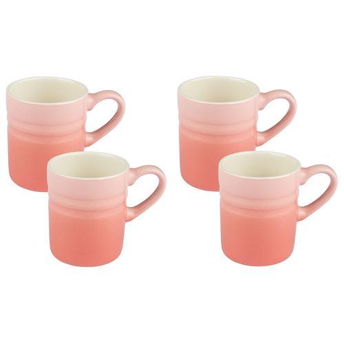 ERNESTO® Geschirr Set, aus Porzellan (rosa, 4er Espressotassen)
