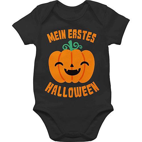 Halloween Baby Mein erstes Halloween Kürbis Bodys Kinder schwarz Baby