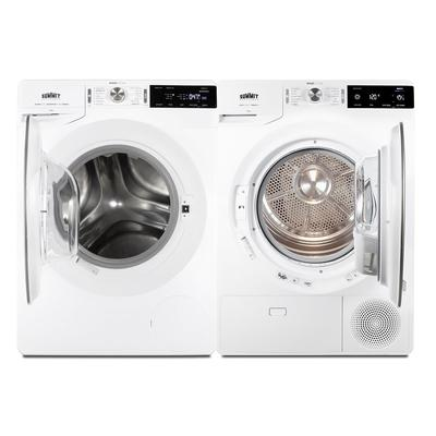 Summit SLS24W4P Front Load Stackable Washer/Dryer Combo - 4 Prong Plug, White, 220v/1ph