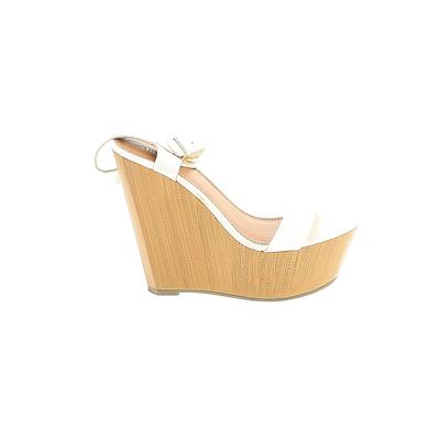 Charlotte Russe Wedges: White Solid Shoes - Size 6