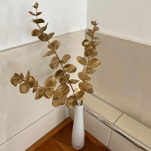 Kunstpflanze Eukalyptuszweig, gold