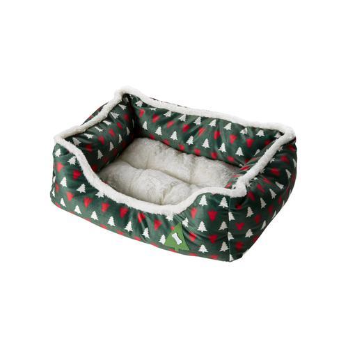 Hundekorb mit weihnachtlichem Motiv