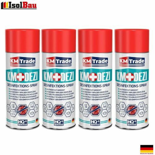 Desinfektionsmittel KM-DEZI 4 x 400ml Spray Hautdesinfektion Handdesinfektion