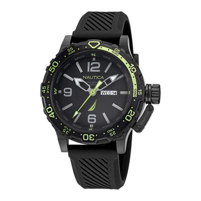 Nautica Men's Glenrock Lagoon Stainless Steel And Silicone Watch Multi, OS