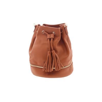 Lionel Handbags & Accessories Leather Bucket Bag: Orange Solid Bags