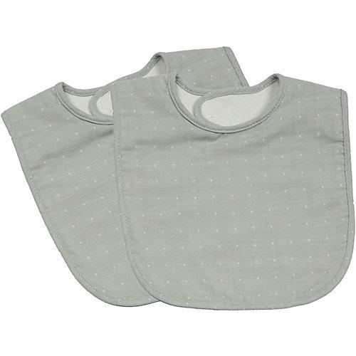 Klett Lätzchen, grau gepunktet, 2er Pack