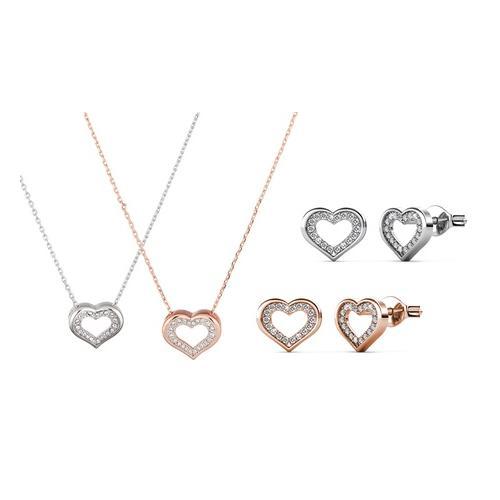Halskette und/oder Ohrringe: Halskette/Silber