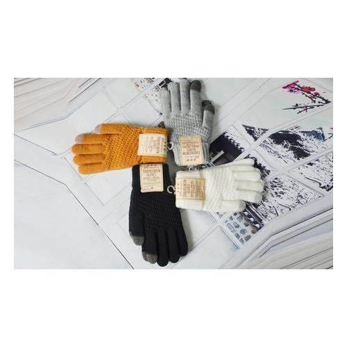 Touchscreen-Handschuhe: Weiß / 1 Paar