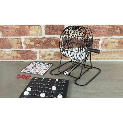 Kit pour jouer au bingo avec cage boules cartes et pions