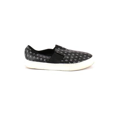 DKNY Sneakers: Black Solid Shoes - Size 8