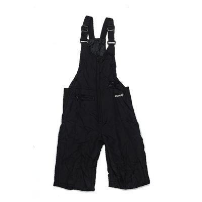 Ski Gear Snow Pants With Bib: Bl...