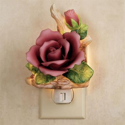 Porcelain Rose Nightlight Claret , Claret