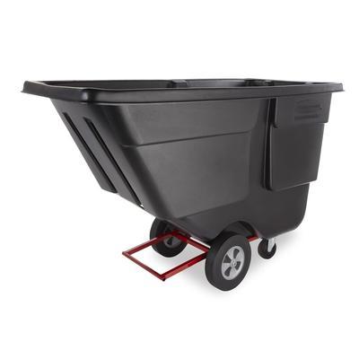 Rubbermaid FG131400BLA 1 cu yd Trash Cart w/ 850 lb Capacity, Black