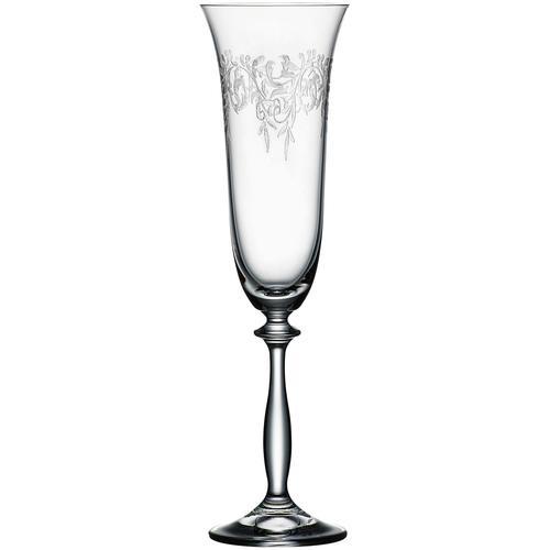 BOHEMIA SELECTION Sektglas ROMANCE, (Set, 6 tlg.) farblos Kristallgläser Gläser Glaswaren Haushaltswaren