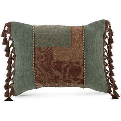 Galleria II Tasseled Rectangle Pillow Chocolate, Rectangle, Chocolate