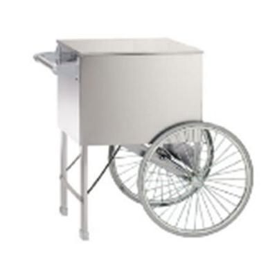 "Gold Medal 2015ST Popcorn Cart w/ 2 Spoke Wheels, Stainless, 38"" x 27"""