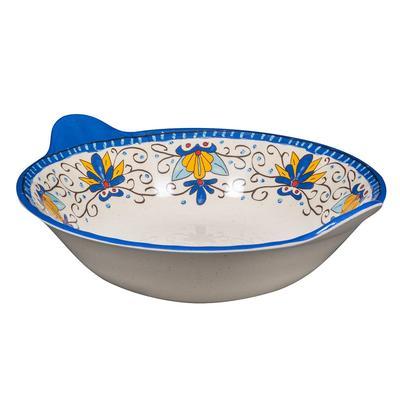 "GET ML-93-SL 12 1/2"" Round Pasta Bowl w/ 2 qt Capacity, Melamine, White"