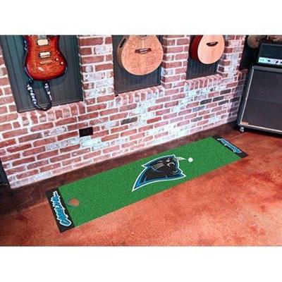Fan Mats FAN-9005 Carolina Panthers NFL Putting Green Runner 18x72