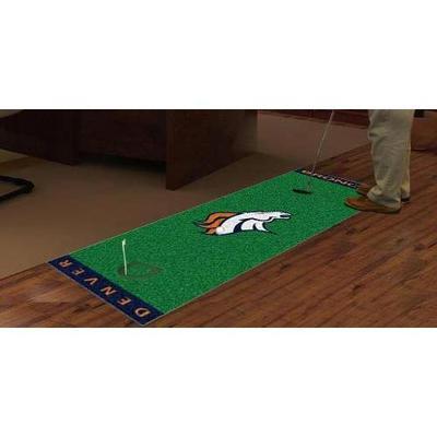 Fan Mats FAN-9010 Denver Broncos NFL Putting Green Runner 18x72