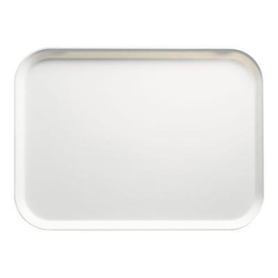 """Cambro 1014148 Fiberglass Camtray? Cafeteria Tray - 13 3/4""""L x 10 3/5"""" W, White"""
