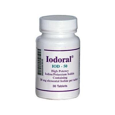 Optimox Corporation Metabolic Support - Iodoral IOD-50 - 30 Tablets