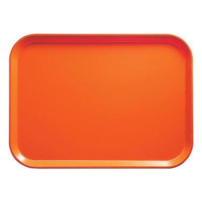 Cambro 57220 Fiberglass Camtray? Cafeteria Tray – 6 9/10″L x 4 9/10″W, Citrus Orange