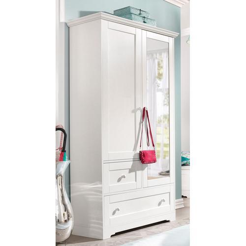 Home affaire Garderobenschrank Lourdes, mit Spiegel weiß Garderobenschränke Garderoben