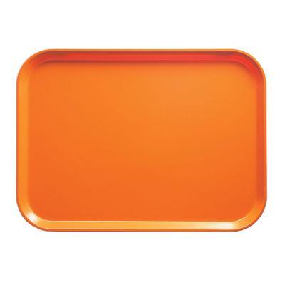 """Cambro 915222 Fiberglass Camtray? Cafeteria Tray - 15""""L x 8 3/4""""W, Orange Pizzaz"""