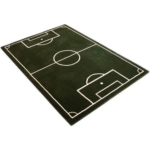 HANSE Home Kinderteppich Fussballplatz, rechteckig, 9 mm Höhe, Fußball, Spielteppich grün Kinder Kinderteppiche mit Motiv Teppiche