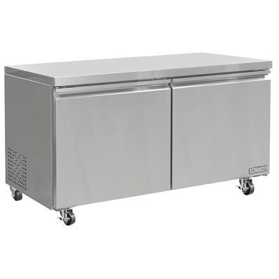 "MoTak MUR-60 60 1/5"" W Undercounter Refrigerator w/ (2) Sections & (2) Doors, 115v"