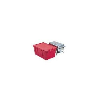 Vollrath 52645 Tote N Store Chafer Box, Polyethylene, Red, 27 in L x 17 in W x 12-1/2 in H