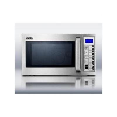 Summit: SCM1000SS 0.9 cu.ft.Commercially Approved Microwave with stainless steel exterior and interi
