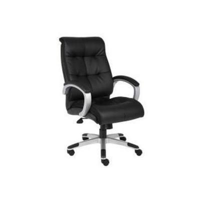 Boss B8771SBK Double Plush High Back Executive Chair BlackSilver