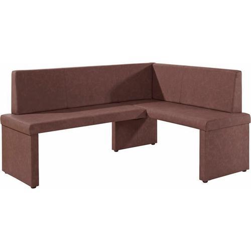 Homexperts Eckbank Mulan, langer Schenkel 165 cm, wahlweise rechts oder links, Bezug aus Kunstleder braun Eckbänke Sitzbänke Stühle