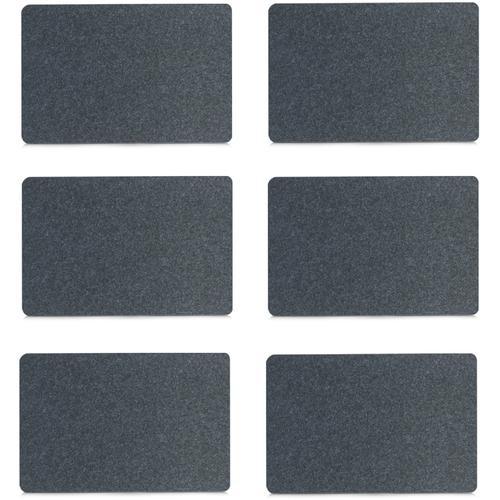 Zeller Present Platzset, (Set, 6 St.) schwarz Platzset Platzsets Tischwäsche