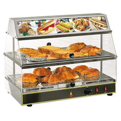 "Equipex WDL-200 24"" Self Service Countertop Heated Display Case - (2) Shelves, 120v"