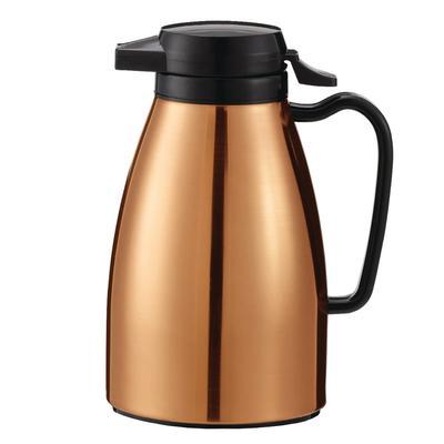 Service Ideas ML501MCPBL .6 liter Coffee Server w/ Push Button Lid, Copper & Black