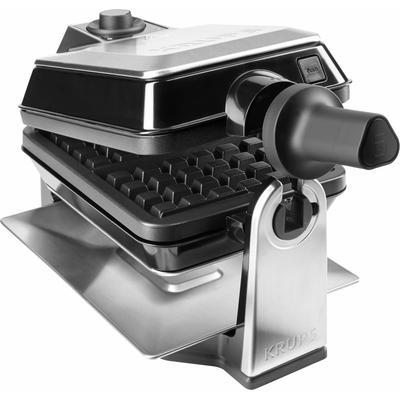 Krups Waffeleisen FDD95D Professional, 1200 W, Backraum drehbar silberfarben Küchenkleingeräte SOFORT LIEFERBARE Haushaltsgeräte