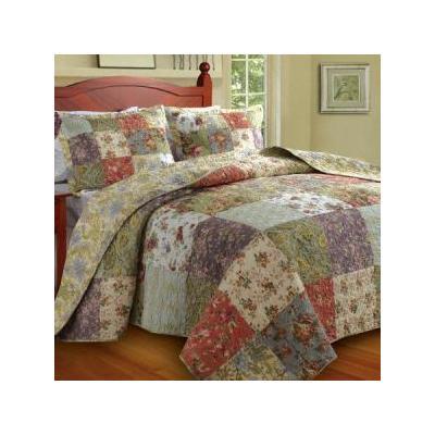 Blooming Prairie Bedspread Set - Size: Full