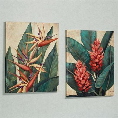 Tropical Bloom Indoor Canvas Set Set of Two, Set of Two