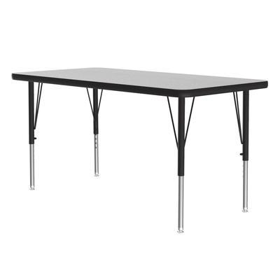 "Correll AM2448-REC 15 48"" EconoLine Rectangular Activity Table w/ Gray Granite Top, 30""H"