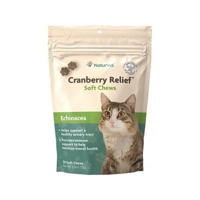 NaturVet Cranberry Relief Plus Immune Support Cat Soft Chews, 50-count