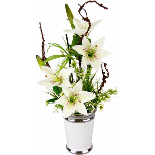 I.GE.A. Kunstpflanze Lilien weiß Künstliche Zimmerpflanzen Kunstpflanzen Wohnaccessoires