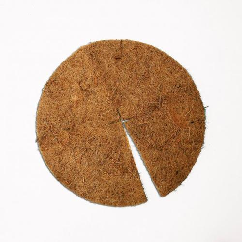 Kokos-Abdeckscheiben, 2er-Set, 37 cm, Kokos, braun