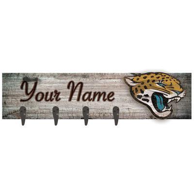 "Jacksonville Jaguars 24"" x 6"" Personalized Mounted Coat Hanger"