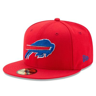 Men's Buffalo Bills New Era Red Omaha 59FIFTY Hat