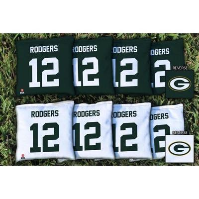 Aaron Rodgers Green Bay Packers Replacement All-Weather Cornhole Bag Set
