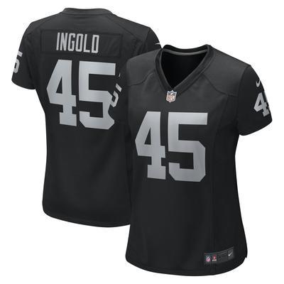 Women's Nike Alec Ingold Black Las Vegas Raiders Game Jersey